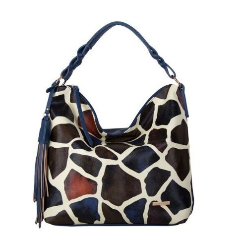 BULAGGI  Giraffe Print Multi Colour Hobo